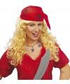 Dames pruik met rode zakdoek