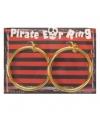 Piraten gouden oorbellen